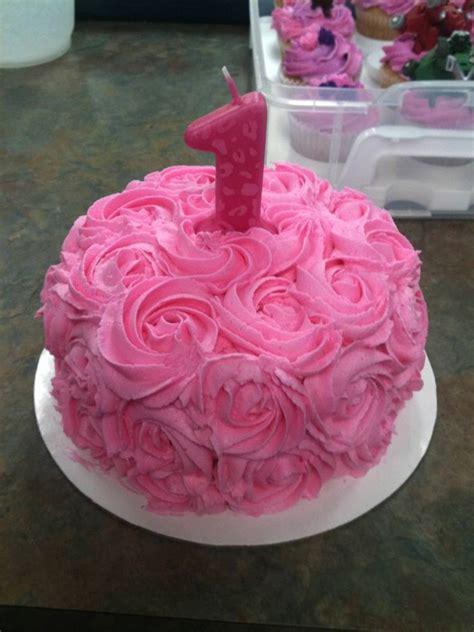 one year birthday cake rosette smash cake for one year birthday cakes
