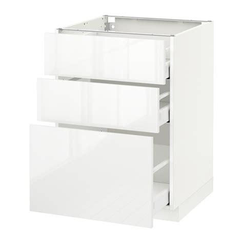 metod maximera 201 l 233 ment bas 3 tiroirs blanc ringhult brillant blanc 60x60 cm ikea