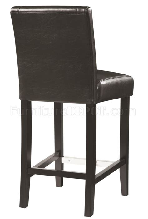 130064 counter height chair set of 4 black leathette by