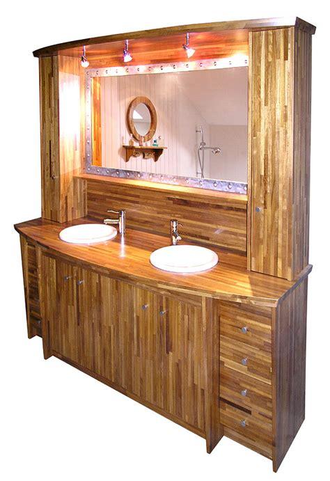 bois marine cr 233 ation meuble de salle de bain en bois exotique le barracuda