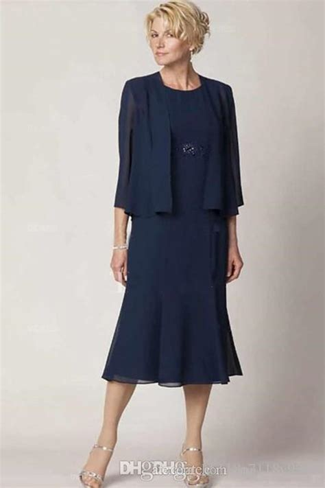 Boat Neck Mother Of The Groom Dress by Tea Length Mother Of The Bride Dresses With 3 4 Sleeves
