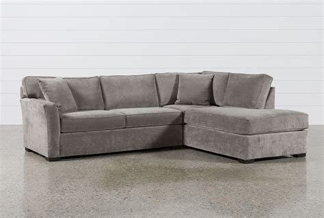 Aspen 2 Piece Sleeper Sectional Wraf Chaise  Living Spaces