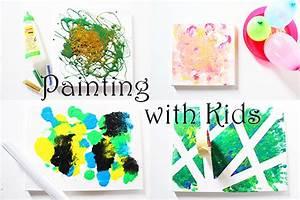 Kinder Bilder Malen : 4 ideen zum malen mit kindern auf leinwand video mama kreativ ~ Markanthonyermac.com Haus und Dekorationen