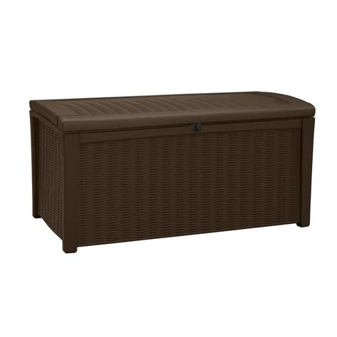 keter borneo 110 gal deck box in brown 211359 the home depot