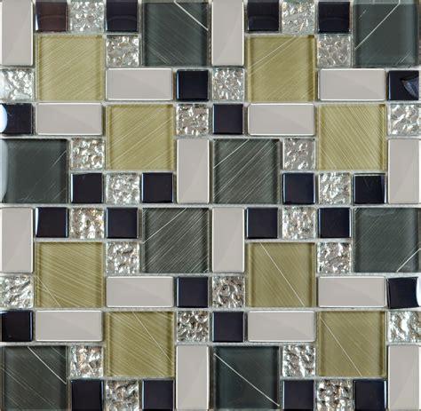 Crystal Glass Tile Sheets Hand Painted Kitchen Backsplash
