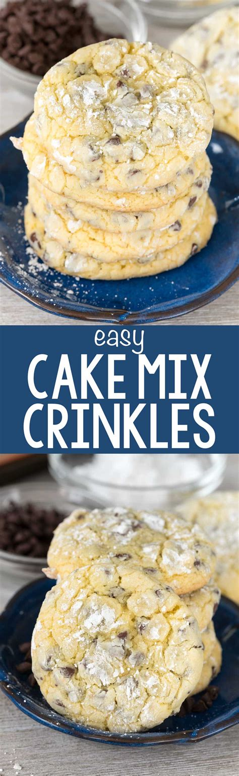 easy cake mix cookies easy cake mix crinkle cookies for crust