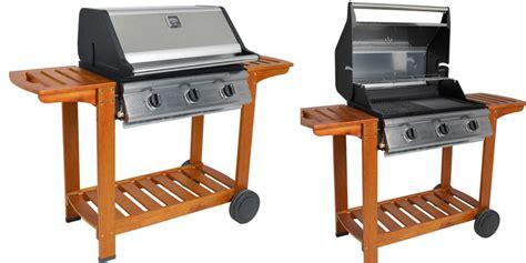 riviera cook in garden barbecue gaz grill et plancha bois inox oogarden belgique