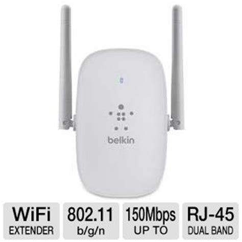 belkin f9k1111 n300 dual band wi fi range extender rj 45 up to 150mbps dual band dual