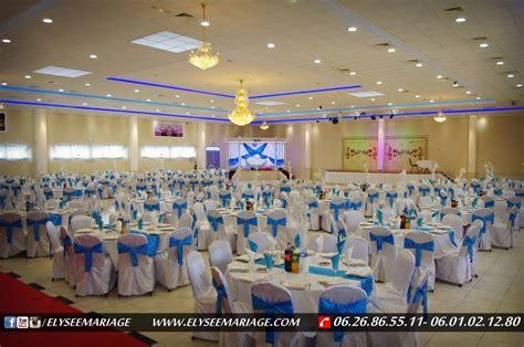 decoration de salle de mariage bleu et blanc decormariagetrnds