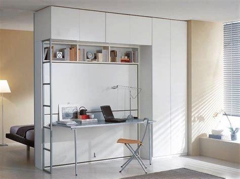 armoire lit superposes escamotable avec bureau pliable