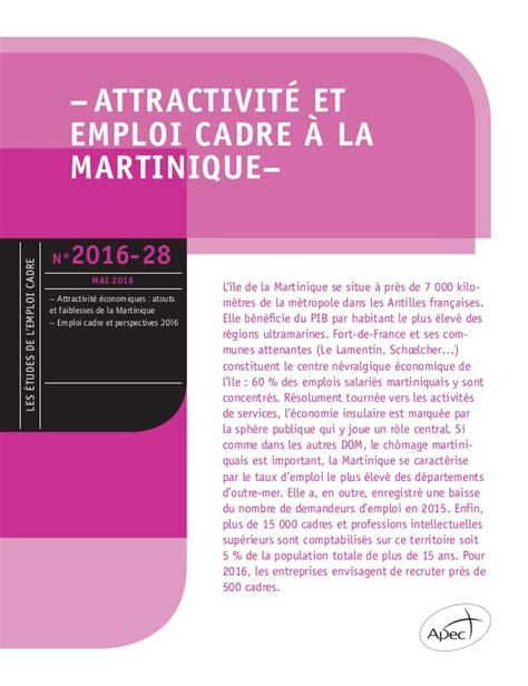 etude apec attractivit 233 et emploi cadre en martinique