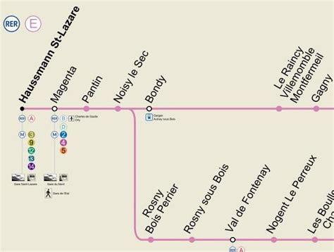 rer chelles gournay horaires rer e et plan de la gare