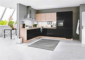 Schwarze Hochglanz Küche : kleine k che schwarz lack f r nur nur bei der k chen b rse 36 ~ Markanthonyermac.com Haus und Dekorationen