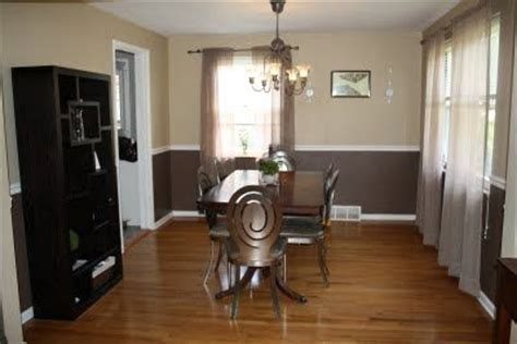 the two tone wall with chair rail ideas for the