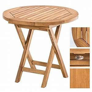 Gartenstühle Holz Klappbar : clp gartentisch moon rund 50 cm teak holz massiv klappbar h he 45 cm teak m bel24 ~ Markanthonyermac.com Haus und Dekorationen