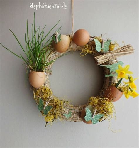tables easter wreaths and papillons on
