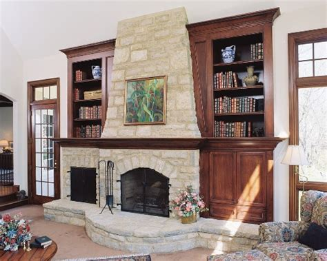 How To Decorate Bookshelves Around A Fireplace 5 Ways