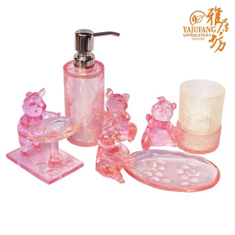 pink bath accessories sets beautiful pink decoration