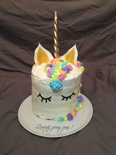 rainbow cake licorne sans oeufs z oeufs peux pas