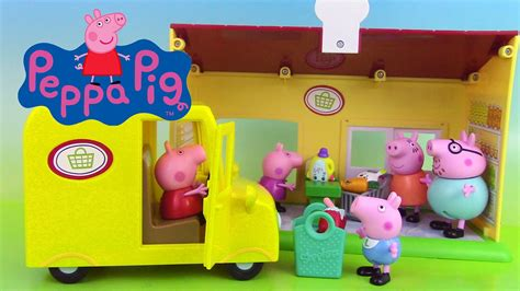 peppa pig jouets supermarch 233 supermarket truck playset