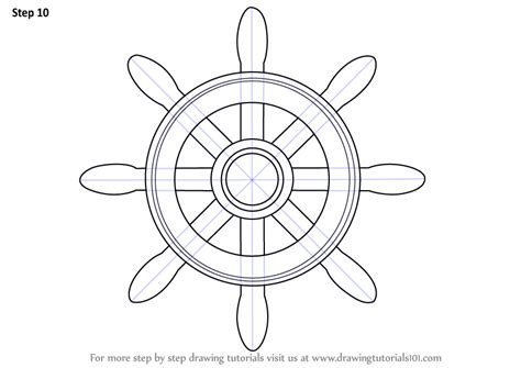How To Draw A Old Boat by Learn How To Draw A Boat Wheel Boats And Ships Step By
