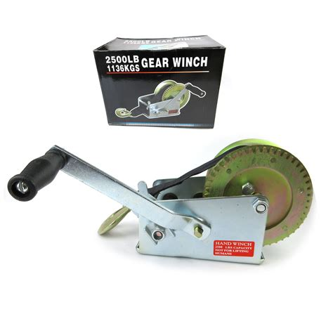 Boat Winch Direction by 2500bls 1136kgs 2 Speed Strap Hand Winch Heavy Duty Boat