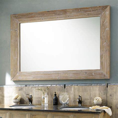 specchio in legno sbiancato h 200 cm cancale maisons du monde