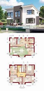 Moderne Häuser Mit Grundriss : moderne stadtvilla mit pultdach haus evolution 148 v9 von bien zenker einfamilienhaus ~ Markanthonyermac.com Haus und Dekorationen
