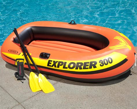 Inflatable Blow Up Boat by Intex Explorer 300 Inflatable Boat Set Three Man Blow Up