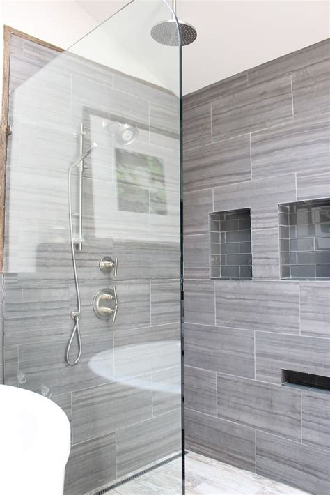 30 Grey Shower Tile Ideas And Pictures. Mermaid Chandelier. Wall Stickers. Low Profile Sofa. Bennington Gray. Dining Rooms Ideas. Deck Patio. Linear Chandeliers. Retro Coffee Table