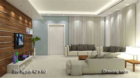 H And H Home Interior Design :  280 Sq Yds 42x60 Sq Ft North Face House 3bhk