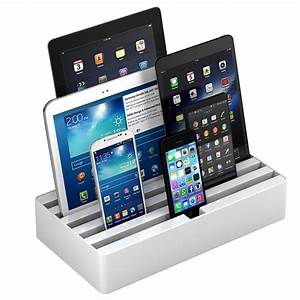 Ipad Iphone Ladestation : all dock 6 port universel opladerstation large hvid ~ Markanthonyermac.com Haus und Dekorationen