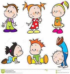 Cute Happy Cartoon Kids Stock Photos - Image: 26656153