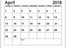 April 2018 Calendar Telugu Printable Template with