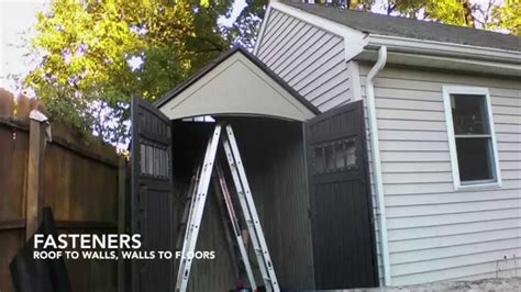 7x7 rubbermaid quot roughneck quot shed assembly timelapse