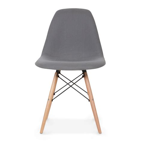 Eames Style Grey DSW Chair Upholstered   Dining Chairs   Cult UK