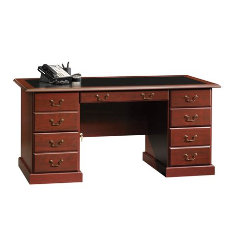 shop sauder heritage hill classic cherry executive desk at lowes