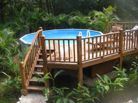 multi level deck for above ground pool landscaping gardening ideas