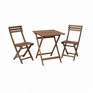 Kleiner Tisch Mit Stühlen : greemotion balkonset borkum balkonm bel set aus holz klappbar bistro set 3 teilig ~ Markanthonyermac.com Haus und Dekorationen