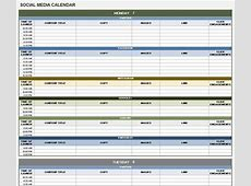 Social Media Calendar Excel Template calendar monthly