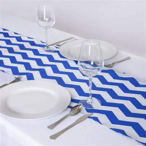 Jazzed Up Chevron Table Runners Royal Bluewhite  Efavormart. Small Farmhouse Table. Rectangular Fire Table. Corner Wooden Desk. Table Edge Guard. Excalibur Front Desk. Diy Desk Accessories. Black Dining Room Table And Chairs. Chest Of Drawers Black
