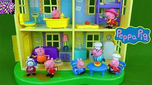 Peppa Pig Toys Lights & Sounds Family Home Doll House Play ...