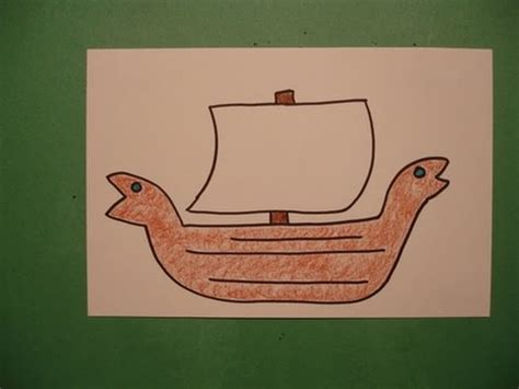 How To Draw A Dragon Boat by Let S Draw A Viking Ship Youtube
