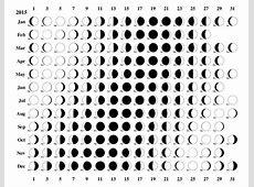 Printable Calendar With Moon Phases » Calendar Template 2018