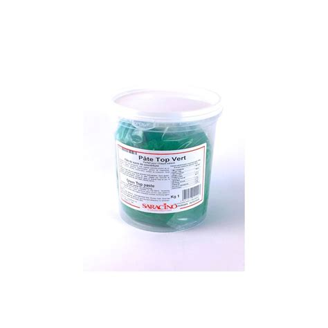 p 226 te 224 sucre pasta top tropicale saracino 1kg vert jade