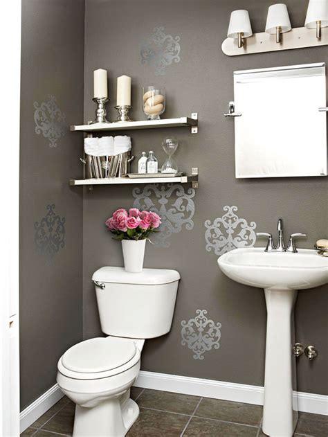 gray powder room contemporary bathroom bhg