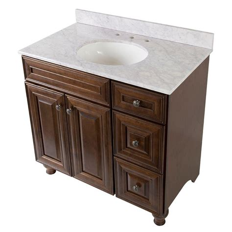 home decorators collection templin 37 in vanity in coffee with effects vanity top in