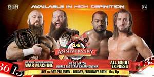 411MANIA | Tag Title Match Added to the ROH 14th ...