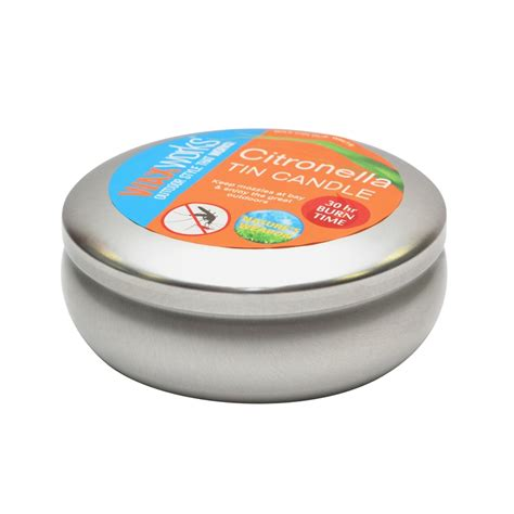 waxworks large citronella candle in tin i n 3340210