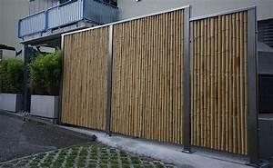 Bambus Edelstahl Sichtschutz : bambus fotogalerie was aus bambus gemacht werden kann fotos unserer kunden und sonderanfertigungen ~ Markanthonyermac.com Haus und Dekorationen
